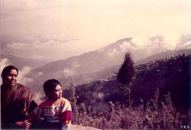 Mum(me) at Batasia Loop, near Darjeeling, circa 1991.