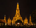 Wat Arun at night. Image Courtesy: Wikipedia