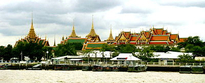 Grand Palace from the river cruise. Image Courtesy: Wikipedia