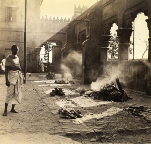Nimtala Burning Ghat during 1945-46 (Image Courtesy: Calcutta-1946.blogspot)