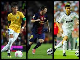 Neymar, Messi, Ronaldo. Current favourites. Image Courtesy: Google