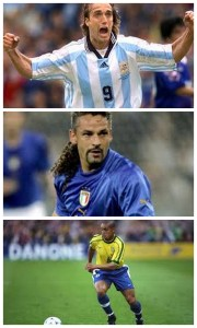 Childhood - top to bottom - Batistuta, Roberto Baggio, Roberto Carlos. Image Courtesy: Google