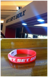 (Top) Get.Set.Bolt at Mani Square Mall, Kolkata. (Bottom) They gave us another BOLT contest tag.