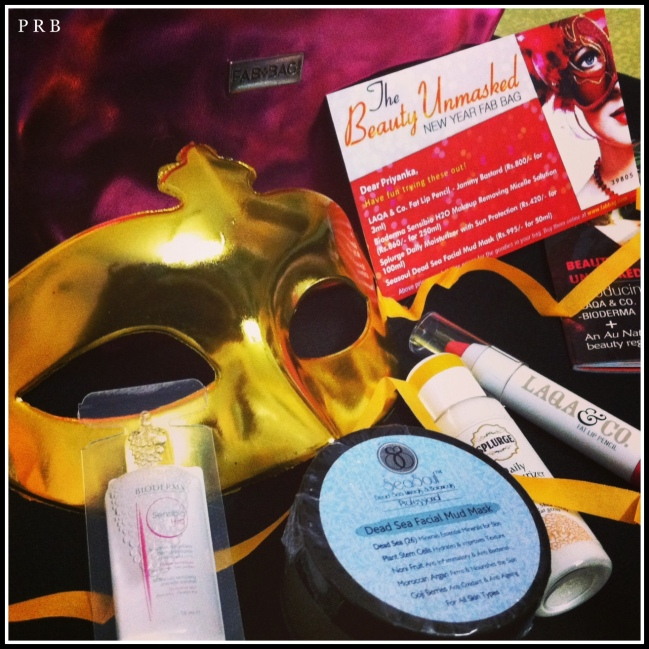 The January contents with a surprise mask.