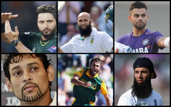 Clockwise: Shahid Afridi, Hashim Amla, Virat Kohli, Tilakratne Dilshan, Imran Tahir, Moeen Ali.