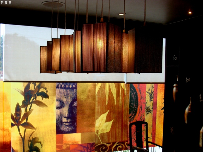 Ceiling lamp and wall decor at Madhapur outlet, Hyderabad