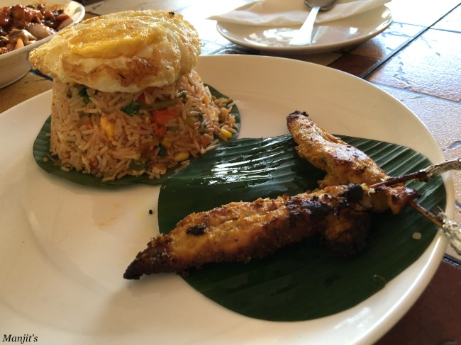 Nasi Goreng with Chicken Satay