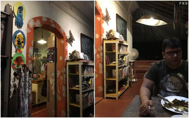 Handicraft store and bookshelf